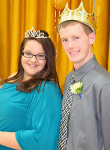 Martina McMahon, '14, and Matthew Baumhover, '14, were selected as the 2013 Homecoming Queen and King at the assembly, which was held Friday, Oct. 18.