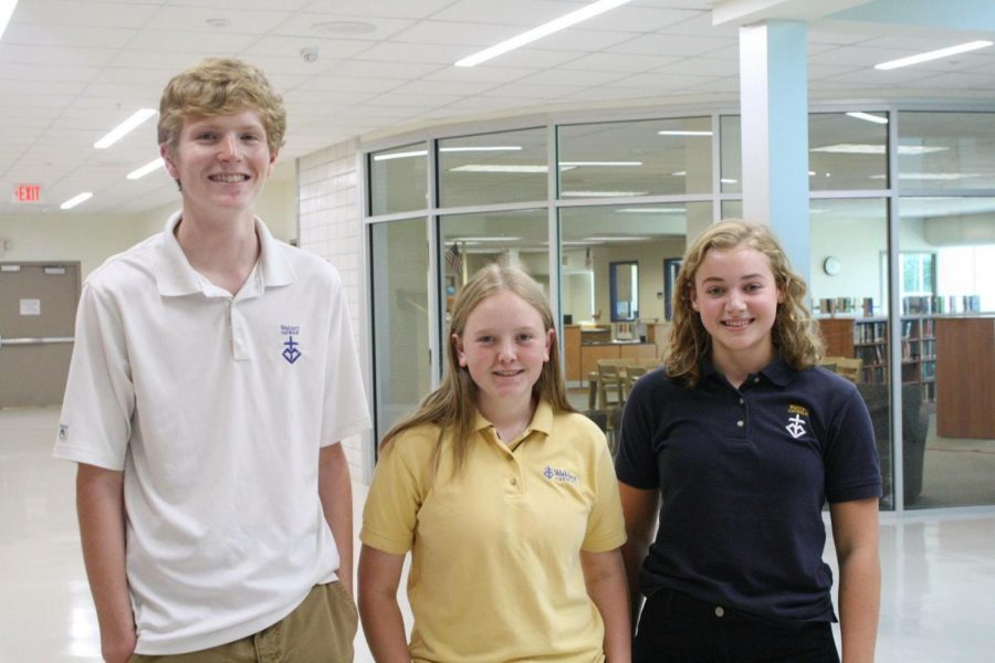 Joe Patrick, Jayne Munshower, and Annie Hermann, '18, were selected as National Merit Seminfinalists.