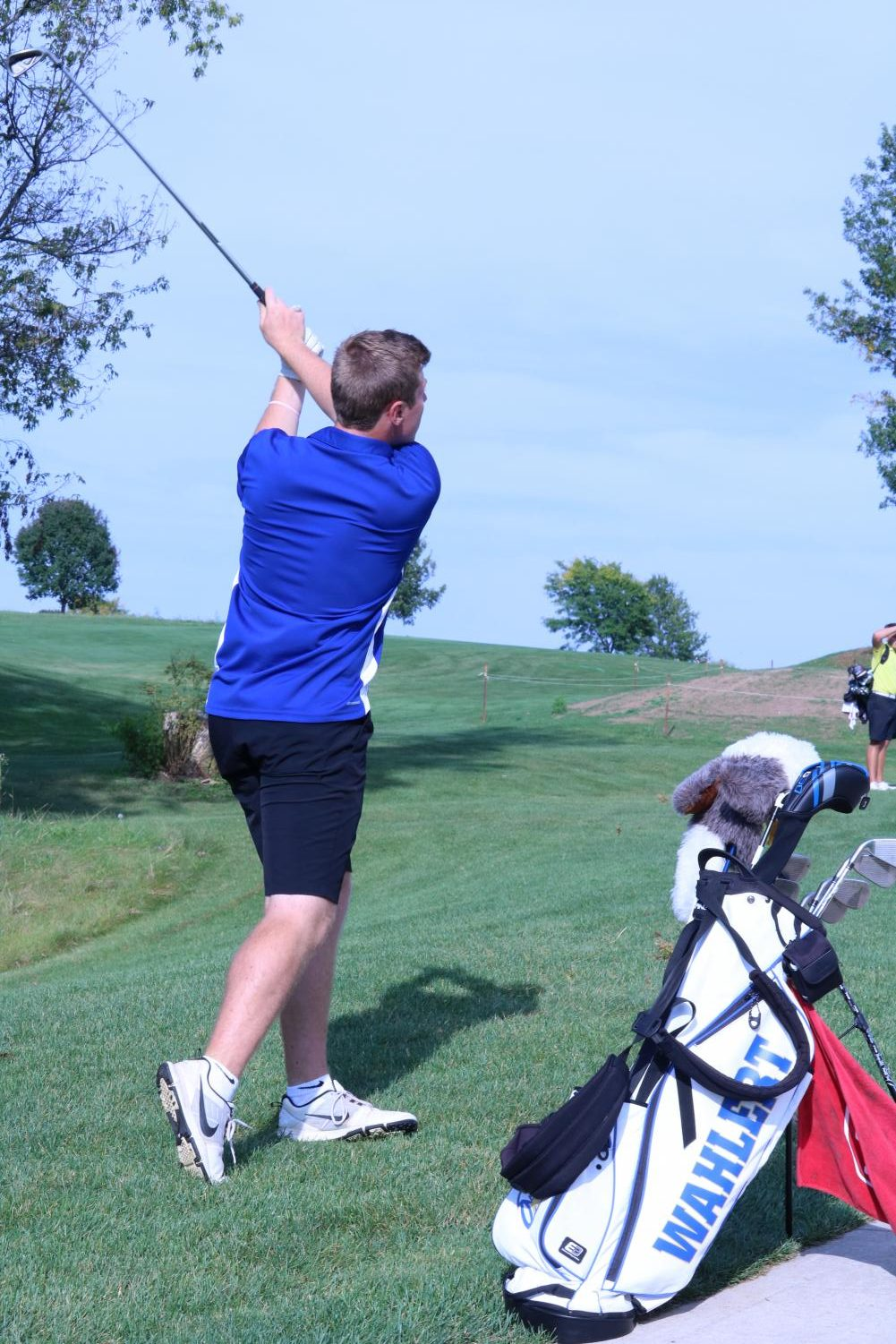Craig Collins, '18, competes on the golf team. Collins led his team to state this season.