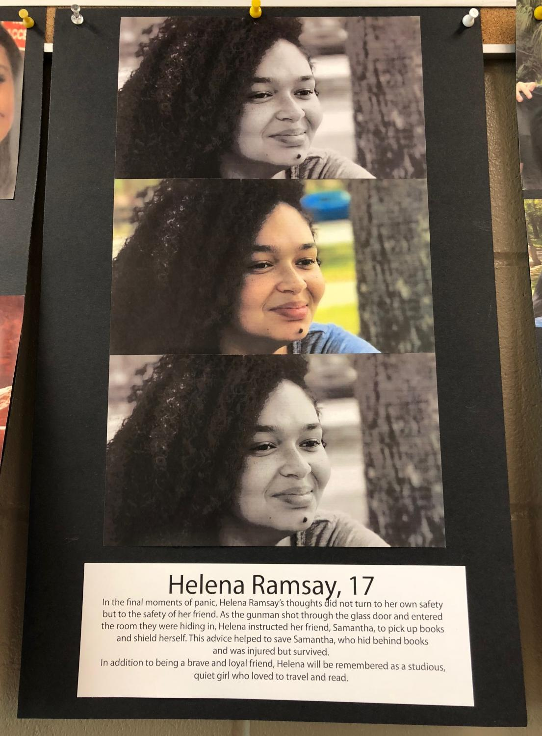 Helena Ramsey, '19, is remembered for her heroic actions during the Parkland shooting.