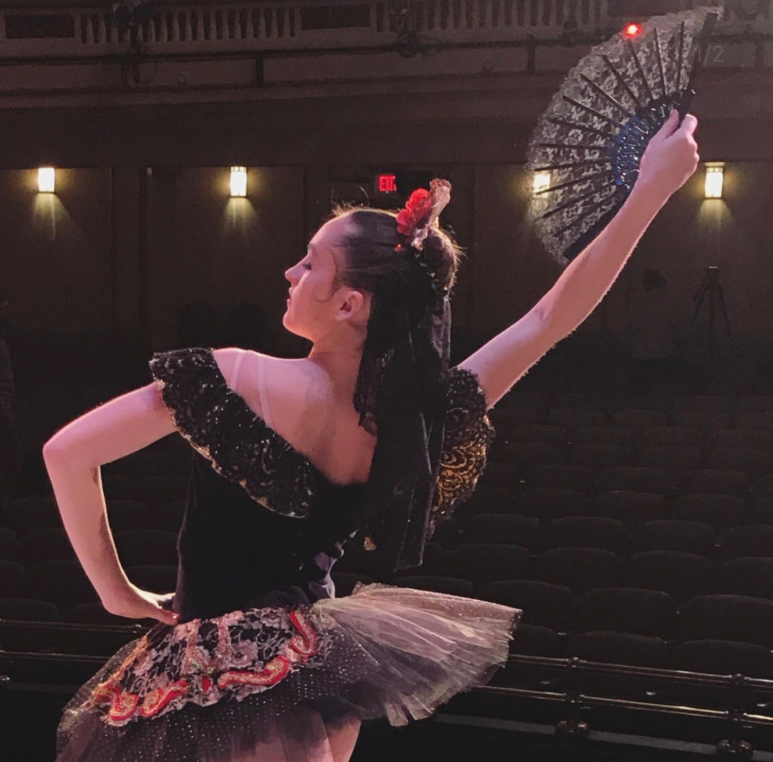 Cathleen Breslin, '20, dances the role of a Spanish soloist in The Nutcracker last year.