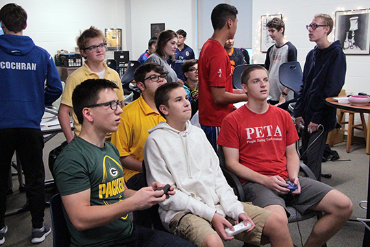 Members of the Super Smash Bros. Club duke it out for victory.