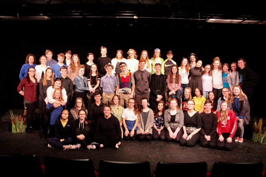 The+cast+celebrates+one+of+their+many+successful+performances.