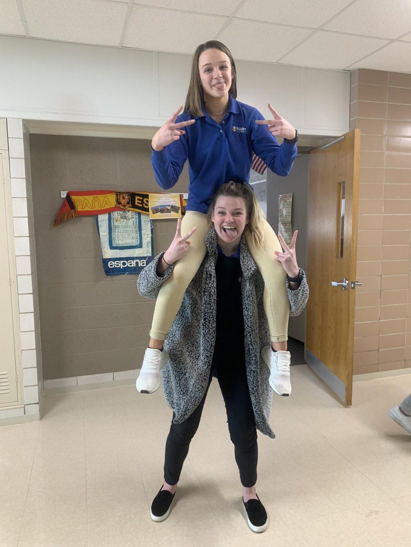Shantelle Graft, '19, carries her sister, Kimberly Graft, '22, through high school.