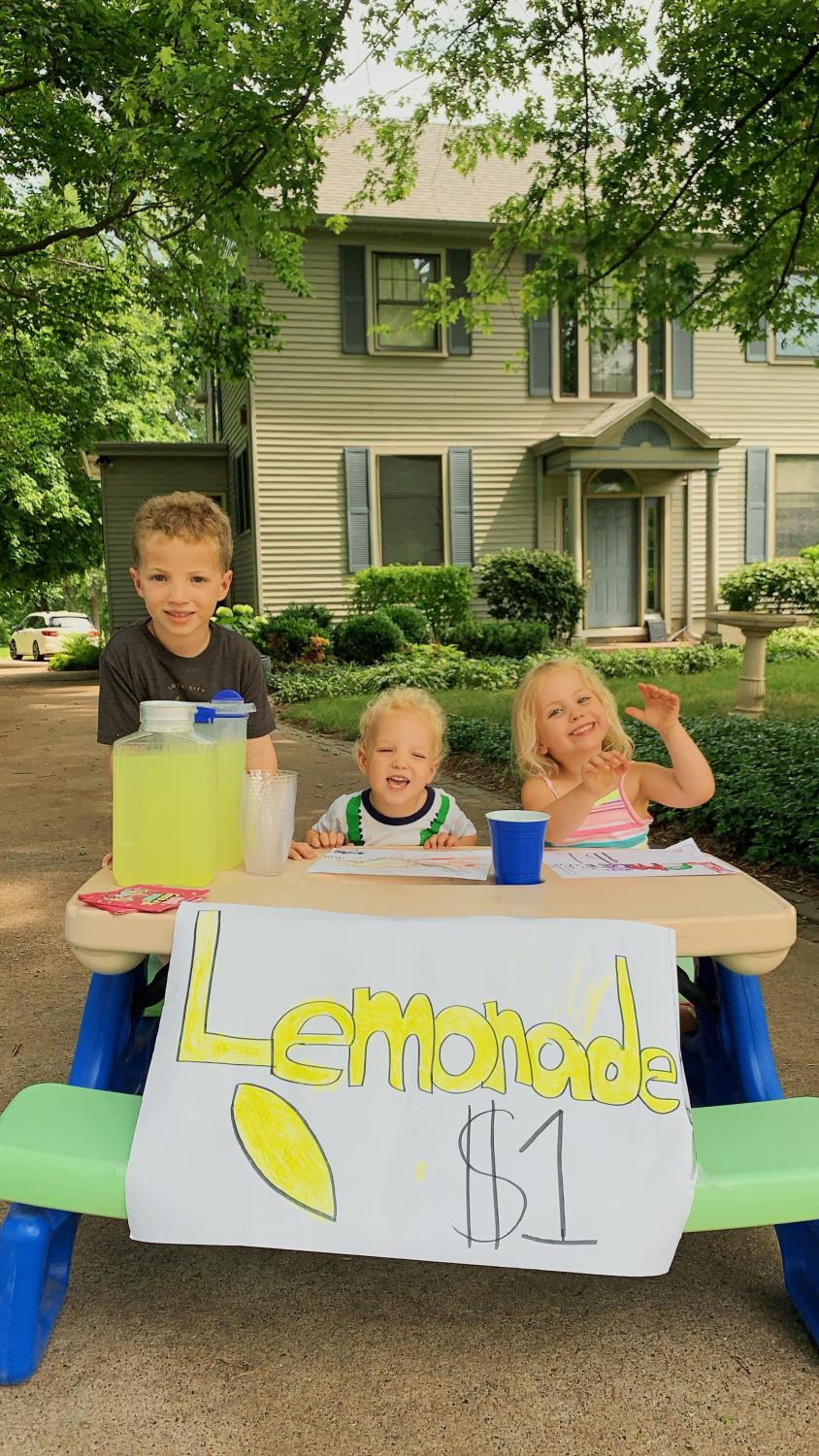 One of Ashley Steele's, '20, more successful babysitting experiences was a lemonade stand with her cousins.