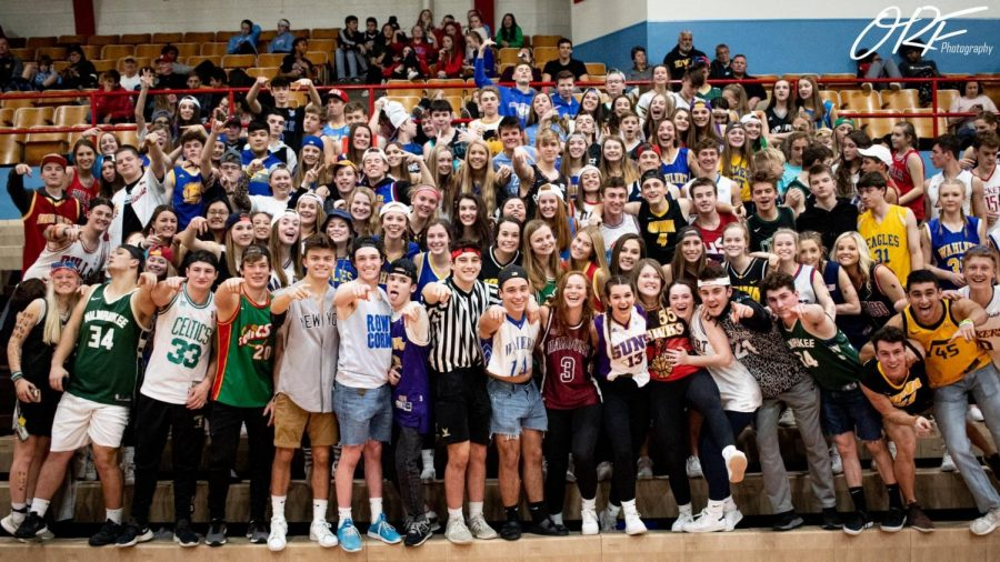 Wahlert+students+turned+out+full-force+for+the+boys+basketball+game+against+Senior.+Even+though+the+underclassmen+don%27t+like+some+of+the+%22rules%22+of+The+Nest%2C+they+are+still+welcome+to+be+a+part+of+it.+