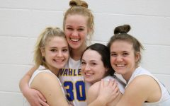 Seniors Libby Perry, Anna Jensen, Maggie McDermott, and Morgan Herrig pose for a photo after having enjoyed their last four years.