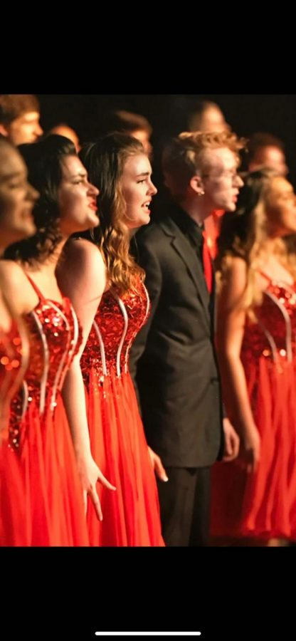 Abby Wagner, '21, performing in one of last year's show choir competitions.